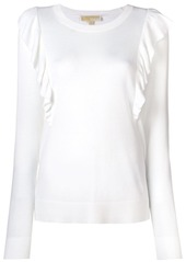 MICHAEL Michael Kors frilled longsleeved sweater