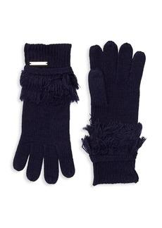 MICHAEL Michael Kors Fringe Trimmed Gloves