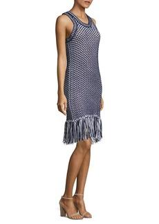 MICHAEL MICHAEL KORS Fringed Knit Dress
