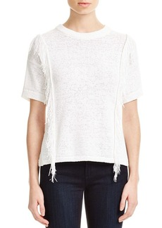 MICHAEL Michael Kors Fringed Short Sleeve Sweater
