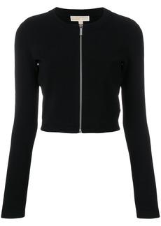 Michael Michael Kors front zipped cardigan - Black