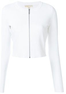 Michael Michael Kors front zipped cardigan - White
