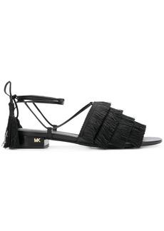 Michael Michael Kors Gallagher fringed sandals - Black
