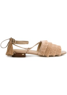 Michael Michael Kors Gallagher fringed sandals - Nude & Neutrals