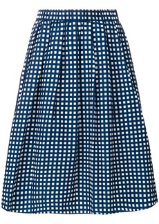 Michael Michael Kors gathered checked midi skirt - Blue