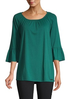 MICHAEL Michael Kors Gathered Sleeve Top