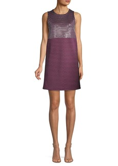 MICHAEL Michael Kors Geo Mix Sleeveless Shift Dress