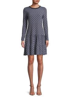 MICHAEL MICHAEL KORS Geo-Print Fit-&-Flare Dress