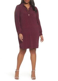 MICHAEL Michael Kors Geo Rope Print Shirtdress (Plus Size)