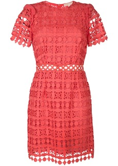 Michael Michael Kors geometric floral lace dress - Pink & Purple