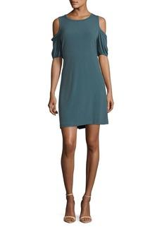 MICHAEL MICHAEL KORS Geometric-Print Cold-Shoulder Dress