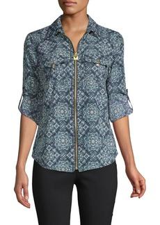 MICHAEL Michael Kors Geometric-Print Long-Sleeve Shirt
