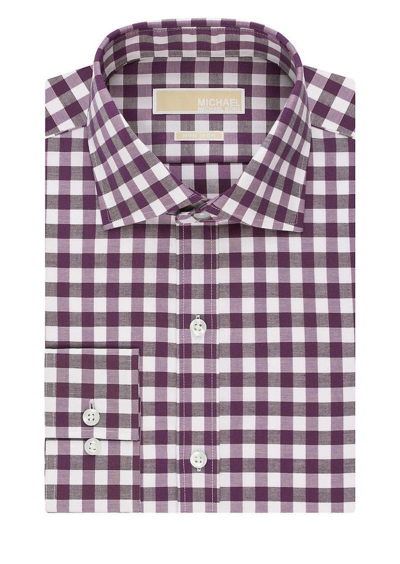 MICHAEL MICHAEL KORS Gingham Plaid Dress Shirt