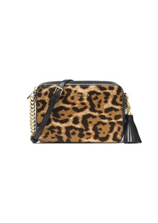 7bbfcf91a16c ... clearance michael michael kors michael michael kors ginny medium  leopard print calf hair camera bag handbags
