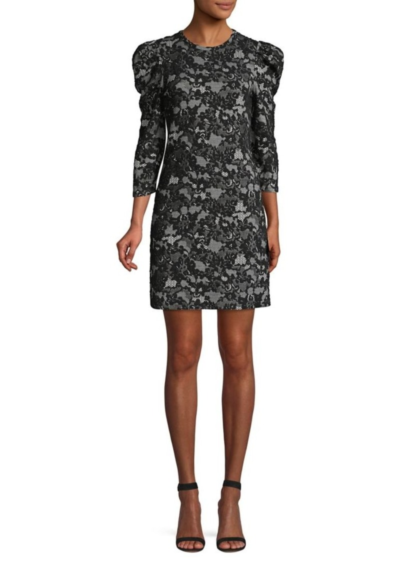 MICHAEL Michael Kors Glam Lace Puff Shoulder Mini Dress