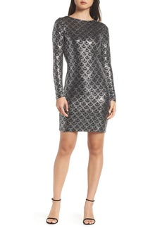 MICHAEL Michael Kors Glitter Cowl Back Sheath Dress