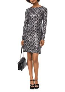 MICHAEL Michael Kors Glitter Scallop Print Dress