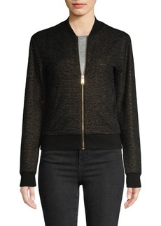MICHAEL Michael Kors Glittery Front-Zip Jacket