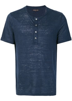Michael Michael Kors grandad-collar T-shirt - Blue