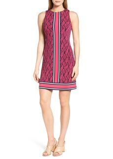 MICHAEL Michael Kors Graphic Mamba Border Print Sheath Dress (Regular & Petite)
