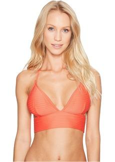 Graphic Rib Halter Bikini Top