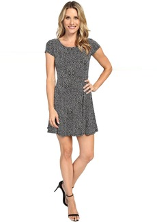 MICHAEL Michael Kors Graphic Scale Cap Sleeve Dress