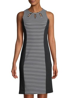 MICHAEL Michael Kors Grommet-Cutouts Shift Dress