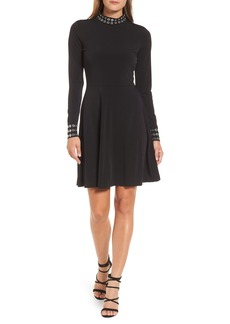 MICHAEL Michael Kors Grommet Mock Neck Knit Dress
