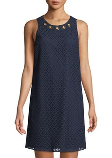 MICHAEL Michael Kors Grommet-Neck Lace Sleeveless Dress