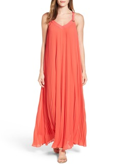 MICHAEL Michael Kors Grommet Strap Pleated Maxi Dress (Regular & Petite)