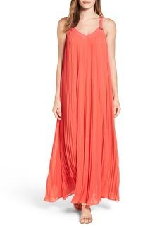 MICHAEL Michael Kors Grommet Strap Pleated Maxi Dress (Regular & Petite)