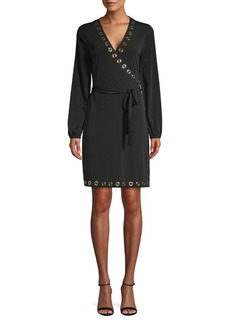 MICHAEL Michael Kors Grommet Wrap Dress