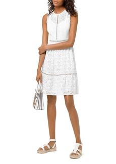 MICHAEL Michael Kors Grommeted Floral-Lace Dress