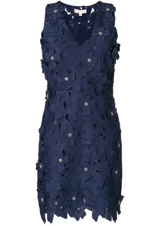 Michael Michael Kors guipure floral lace mini dress - Blue