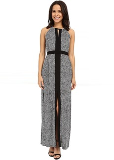 MICHAEL Michael Kors Hagen Halter Border Dress