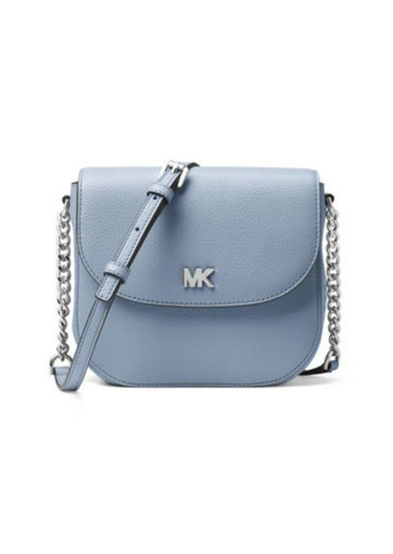 a1fb856f71fc MICHAEL Michael Kors Half-Dome Leather Crossbody Bag - Silver Hardware