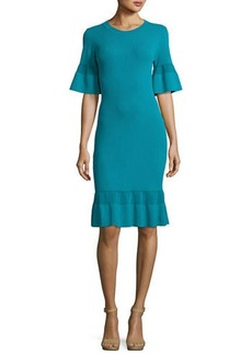 MICHAEL Michael Kors Half-Sleeve Body-Con Textured Dress