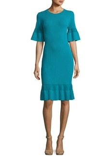 MICHAEL Michael Kors Half-Sleeve Body-Con Textured Dress