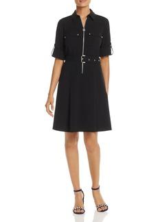 MICHAEL Michael Kors Half-Zip Shirt Dress