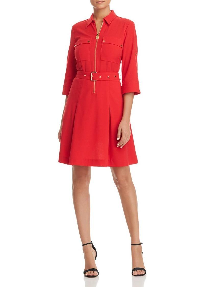 062ea5c12e707 SALE! MICHAEL Michael Kors MICHAEL Michael Kors Half-Zip Shirt Dress