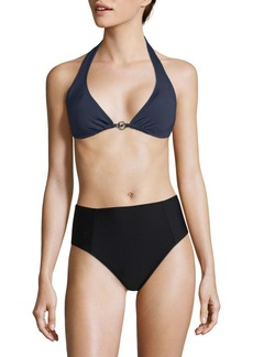 f4d2d72f13087 MICHAEL Michael Kors Stable Stripe High Neck Bikini Top