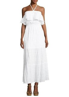 MICHAEL Michael Kors Halter Tiered Maxi Dress