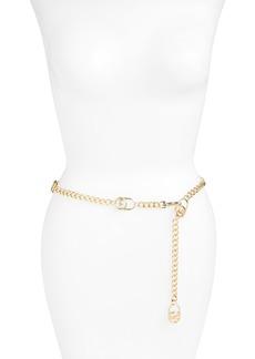 MICHAEL Michael Kors Hamilton Logo Lock Chain Belt