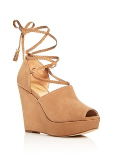 MICHAEL Michael Kors Hastings Lace Up Platform Wedge Sandals