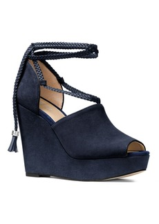 MICHAEL MICHAEL KORS Hastings Suede Open-Toe Wedge Platform Sandals
