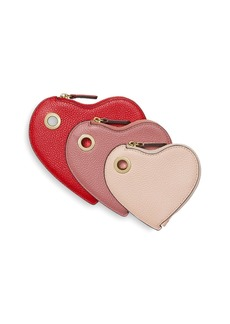 MICHAEL Michael Kors Heart Color Block Leather Wristlet Trio