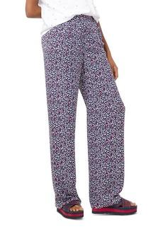 MICHAEL Michael Kors Heart Print Silk-Georgette Pajama Pants