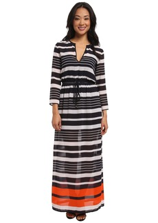 MICHAEL Michael Kors Helsinki Long Sleeve Maxi Dress
