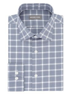 Michael Kors Regular Fit Airsoft Stretch Check Dress Shirt