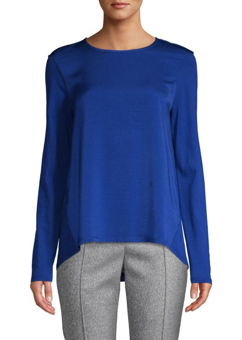 MICHAEL Michael Kors High-Low Cotton-Blend Top